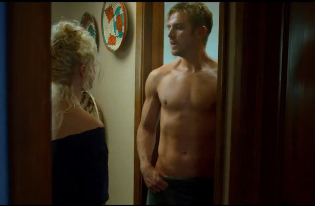 Dan-Stevens-shirtless-grab-The-Guest
